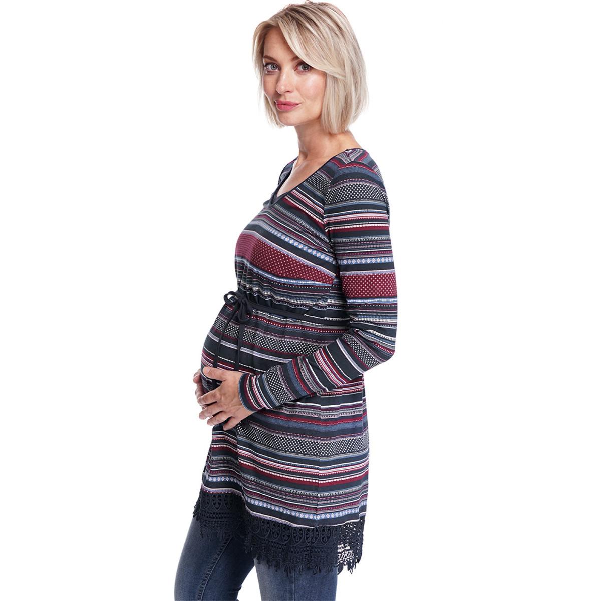 Bild 3 von Damen Umstands-Longshirt mit Allover-Print
