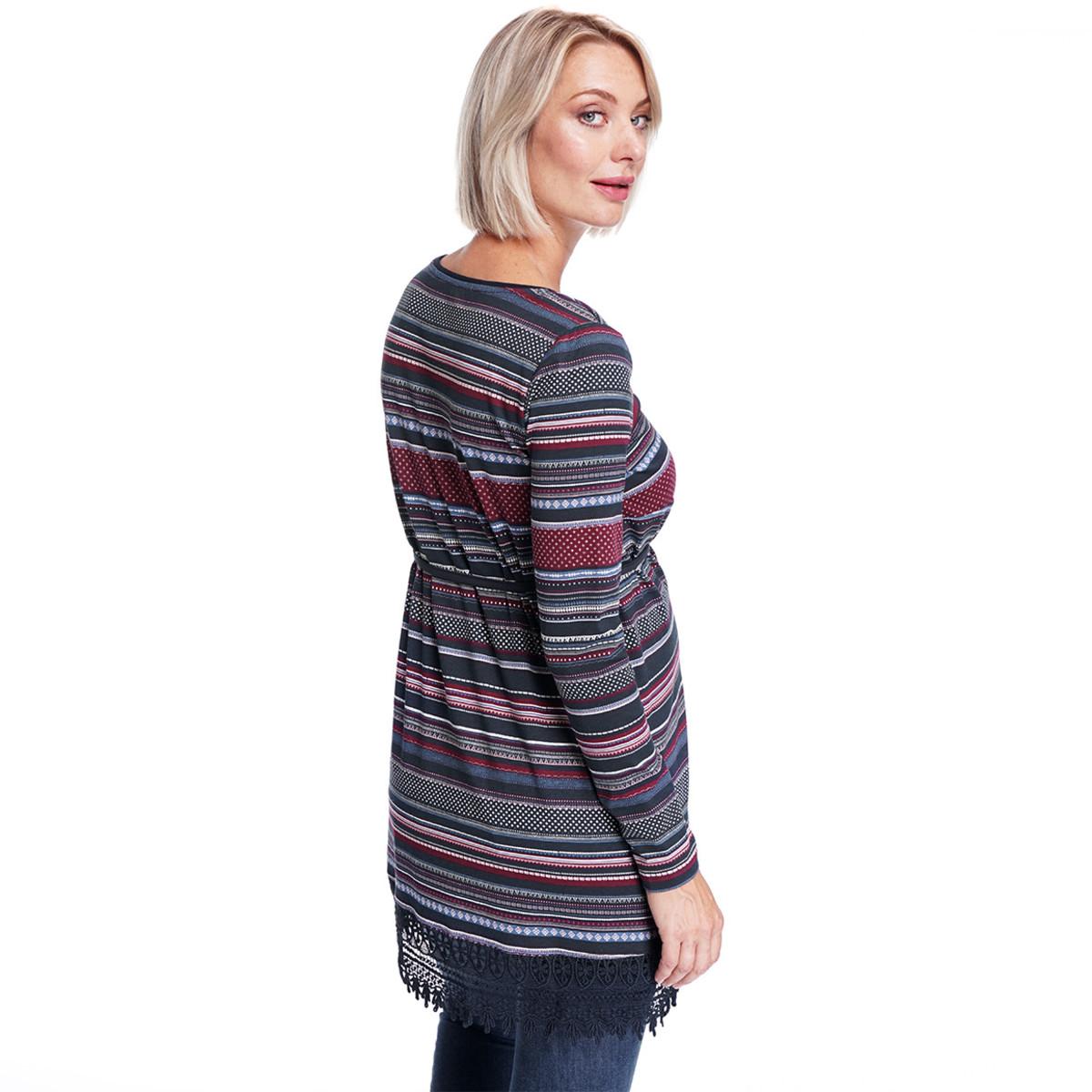 Bild 4 von Damen Umstands-Longshirt mit Allover-Print