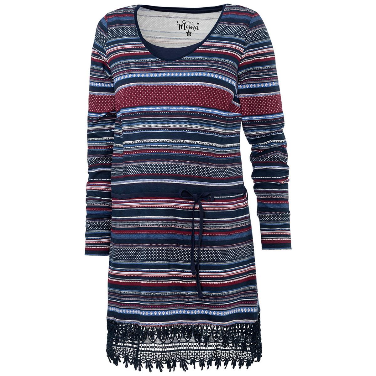 Bild 5 von Damen Umstands-Longshirt mit Allover-Print