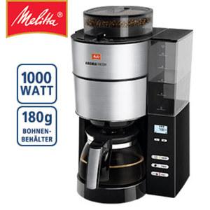 Kaffeeautomat AromaFresh® · für 10 Tassen · einstellbare Kaffeestärke und Warmhaltezeit · abnehmbarer Bohnenbehälter · LCD-Anzeige mit Timer-Funktion · Zubereitung auch direkt mit Kaffeepulv