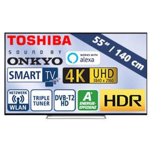 "55""-Ultra-HD-LED-TV 55U6863DA HbbTV, H.265, Dual-Core, HDR (HDR 10, HLG), 3 HDMI-/2 USB-Anschlüsse, CI+, 2 x 10 Watt RMS, Stand-by: 0,5 Watt, in Betrieb: 86 Watt, Maße: H 73,0 x B 123,8 x T 9,1 cm,"