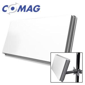 Flat-Sat-Antenne H30D+ Twin integr. Twin-LNB, inkl. Fenster-/Balkon-/Wand-Halterung und Standfuß, Maße: H 27,7 x B 51,7 x T 5,8 cm