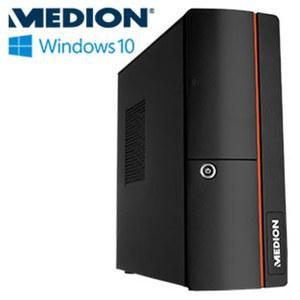 Slimline-PC Akoya E20006 · Intel® Celeron® J3060 (bis zu 2,48 GHz ) · Intel® HD Graphics 400 · USB 2.0, USB 3.0 · DVD-Brenner, Cardreader · inkl. Tastatur und Maus