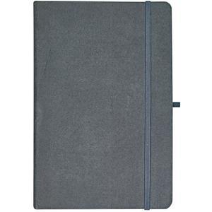 IDEENWELT Notizbuch dunkelgrau DIN A5, Blätter kariert