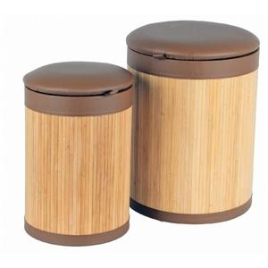 Bambus-Wäschetonnen-Set