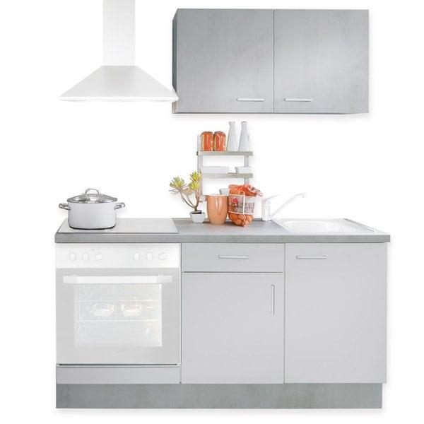 Mini-Küche SOFIA - weiß - Beton-Optik - 160 cm von Roller ...
