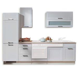 Küchenleerblock MATRIX - Lacklaminat weiß - Asteiche - 270 cm