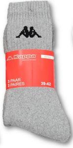 Kappa Sportsocken - 3er Pack, Grau melange Gr. 43/46