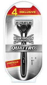 Wilkinson Quattro Vorteilspack mit Rasiergriff und vier Klingen inklusive