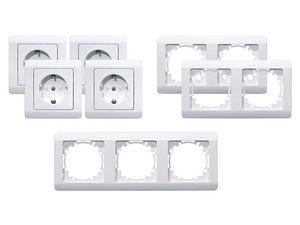 POWERFIX® 4 Steckdosen/Dimmer/4 Wechselschalter