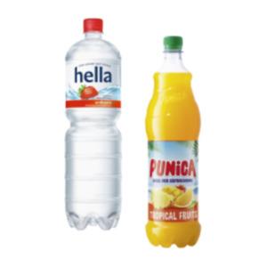 Punica oder hella Erfrischungsgetränke