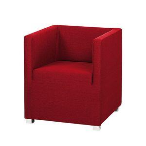 Sessel Carmen - Webstoff Rot, mooved