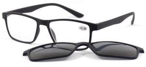 VISIOSAN Lesehilfe mit Magnet-Sonnenbrillenclip - schwarz 3,5 dpt