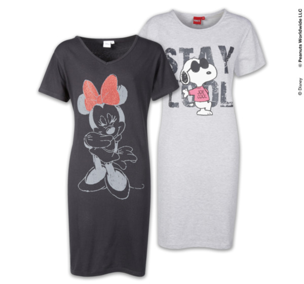 Outlet Store Verkauf Neuestes Design modisches und attraktives Paket DISNEY oder PEANUTS Modische Damen-Nachthemden