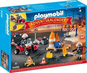 PLAYMOBIL® 9486 - Adventskalender 2018 - Feuerwehreinsatz auf der Baustelle