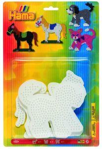 Hama, 3 Stiftplatten Hund, Katze und Pferd
