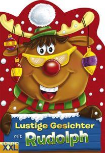 Lustige Gesichter mit Rudolph