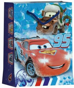 Geschenktüte - Cars - M - ca. 22,9 x 17,5 x 9,8 cm