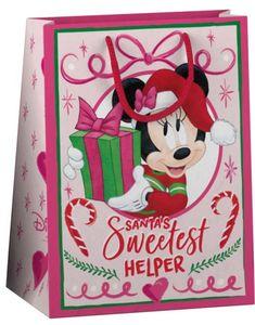 Geschenktüte - Minnie Mouse - M - ca. 22,9 x 17,5 x 9,8 cm