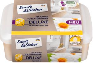 Sanft&Sicher feuchtes Toilettenpapier Deluxe Kamille mit Spenderbox