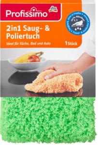 Profissimo 2-in-1 Saug- und Poliertuch
