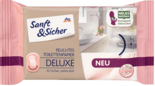 Sanft&Sicher feuchtes Toilettenpapier Deluxe Cashmere