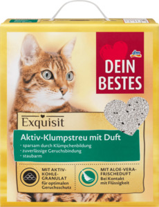 Dein Bestes Katzenstreu, Exquisit, Aktiv-Klumpstreu mit Duft für Katzen