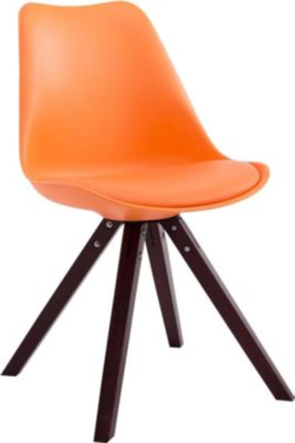 CLP Design Retro Stuhl TOULOUSE SQUARED mit Kunstlederbezug
