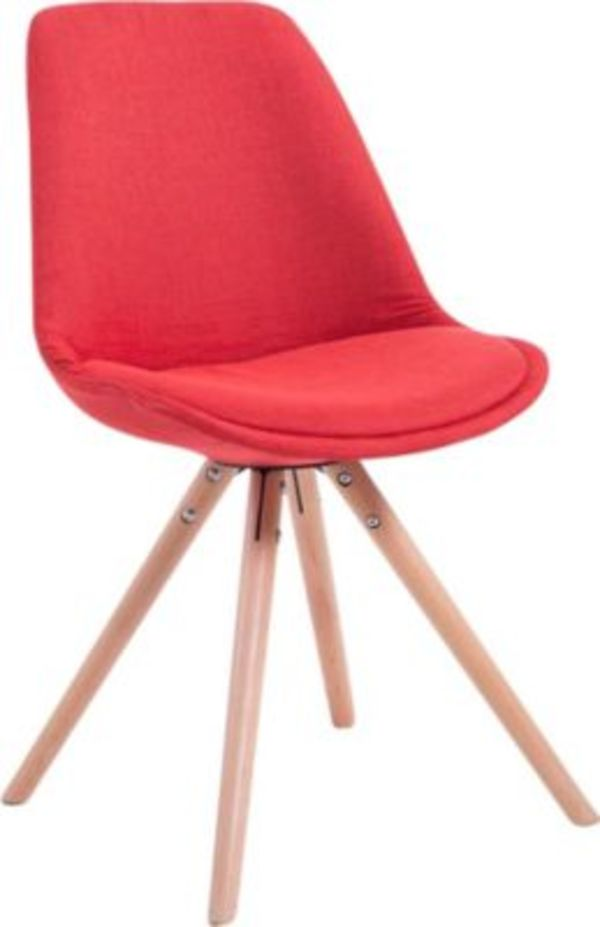 Clp Design Retro Stuhl Toulouse Rund Mit Stoffbezug Und Hochwertigem