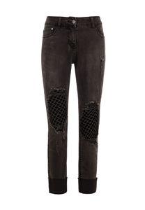 Million X Mädchen Fashion Destroy, black denim, 164
