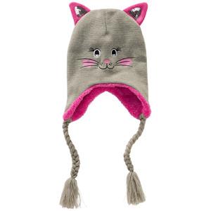 Mädchen Strickmütze mit Katzengesicht