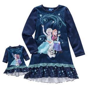 Die Eiskönigin Nachthemd und Puppenkleid