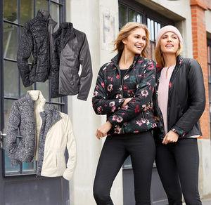 Laura Torelli COLLECTION Damen-Wendejacke in verschiedenen Designs