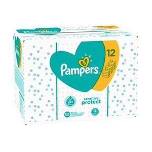 Pampers Feuchttücher Sensitive Protect Gigapack, 12x52 Stück