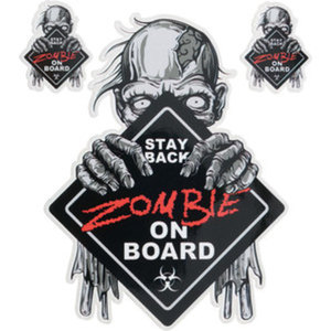 "Aufkleber ""Zombie on board""        Maße: 12,1x16cm"