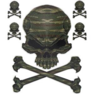 "Aufkleber ""Camo Skull""        Maße: 15,2x20,3cm"