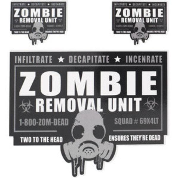 "Aufkleber ""Zombie Removal Unit""        Maße: 15,2x20,3cm"