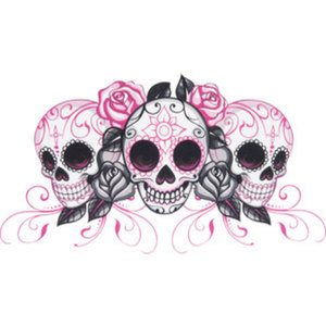 Aufkleber Girl Skulls        Lethal Threat