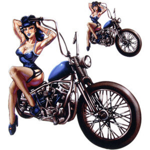 AUFKLEBER PIN UP BIKE