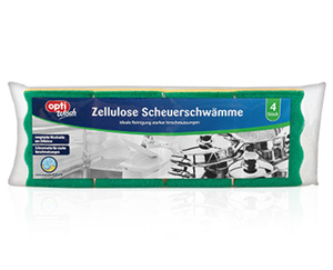 optiWisch Zellulose Scheuerschwämme, 4Stück