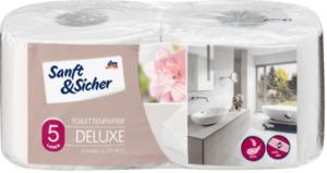 Sanft&Sicher Toilettenpapier Deluxe 5-lagig, 2x129 Bl