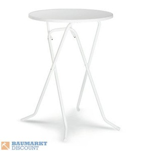 Best Stehtisch Primo 80 cm Scherengestell - Weiß
