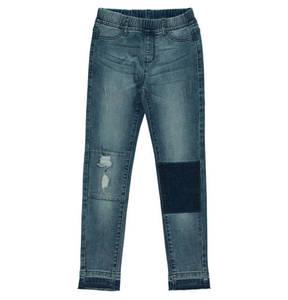 manguun teens             Jeans, Gummibund, Used-Look, Patchwork-Optik, für Mädchen