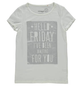 manguun teens T-Shirt, Bio-Baumwolle, Print, Metallic, für Mädchen 72b9cb6842