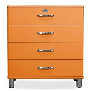 Kommode MALIBU MDF Lack Orange 4 Schubkästen ca. 86 x 92 x 41 cm