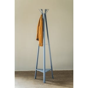 Garderobenständer Metall Blau lackiert ca. 40 x 175 x 45 cm