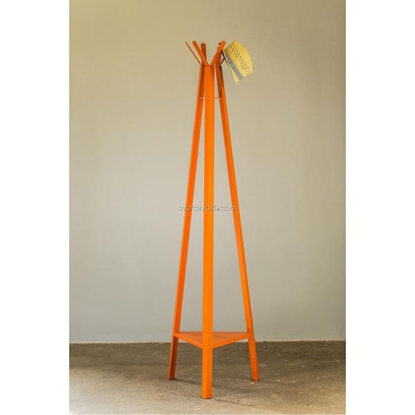 Garderobenständer Metall Orange lackiert ca. 40 x 175 x 45 cm