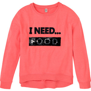 Mädchen Loungewear-Shirt mit Wendepailletten