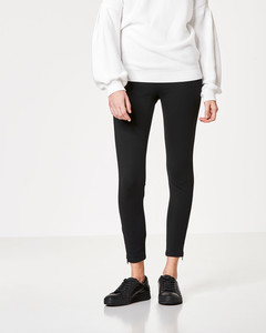 Jersey-Leggings mit breitem Bund