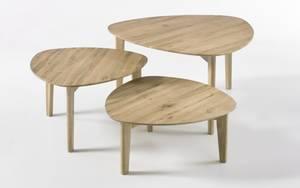 MCA furniture - 3-Satz-Tisch Camilla aus Asteiche massiv